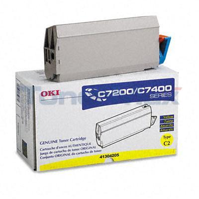 OKIDATA C7000 TYPE C2 TONER YELLOW